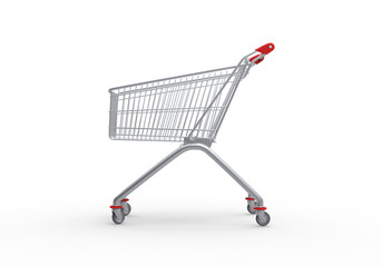 Shopping trolley, 3d render