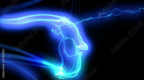 Electric arcs in extreme motion. HD 1080. Loop-able.