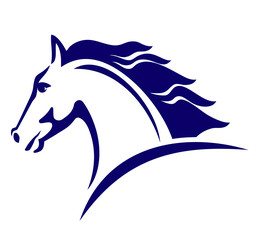 Horse symbol, template for the logo