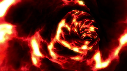 Lava Tunnel. Looped animation. HD 1080.