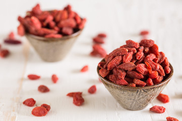 Closeup of goji berries