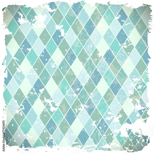 retro background with blue rhombs