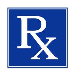 Cartel sanitario simbolo receta medica