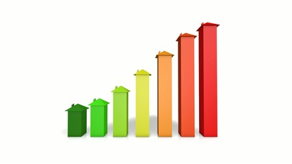 real estate growth arrow