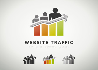 Website traffic icon