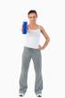 Sportswoman offering a sip of water