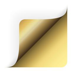Papier - Ecke oben gerundet gold