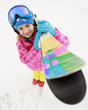 Skiing, winter sports - portrait of happy young skier