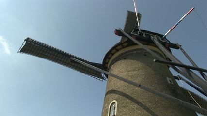 Low angle of Dutch windmill