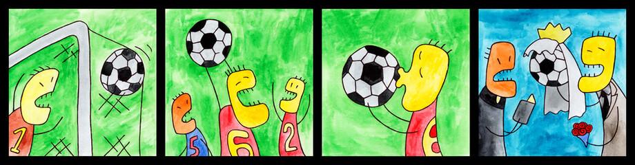 Vivid emotions of football