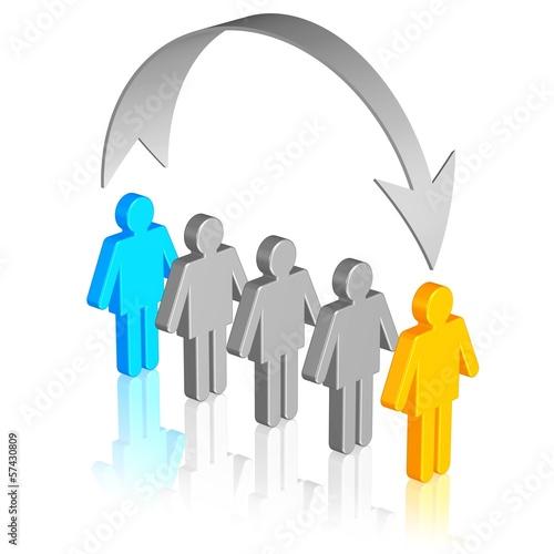 Informationsfluss, Personen auslassen
