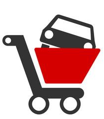Einkaufswagen Auto