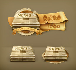 Newspaper, icon