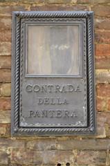 Contrada della Pantera, Siena
