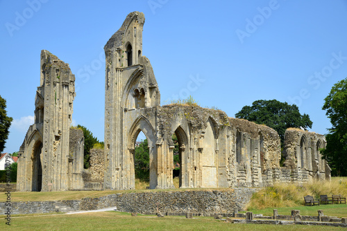 Glastonbury Abbey in Somerset, England, United Kingdom - 57432079