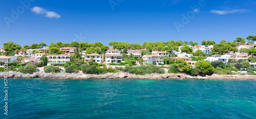 Beautiful coast architecture on Majorca island