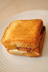 Texas Toast Sandwich with Egg and Bacon