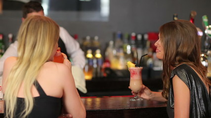 Beautiful women having a cocktail together
