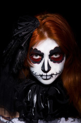 Woman satana in halloween concept