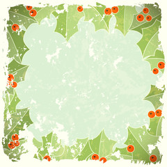 abstract christmas background in retro style