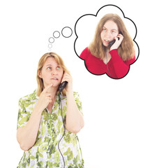 Daughter calling worried mother