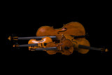 Fotoroleta Two Violins, Viola and Cello isolated on black