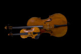 Violin and Cello isolated on black
