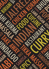 indian colourful a4 background