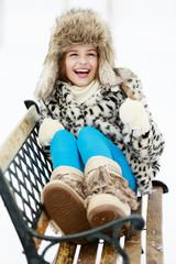Winter fashion girl