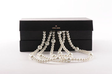 Pearls in luxury dark gray box