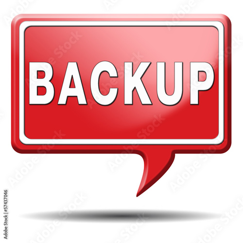 backup icon or sign