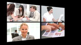 Several short clips about business people at work