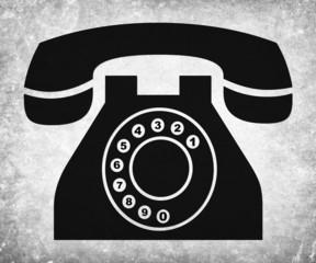 Teléfono, poster vintage.