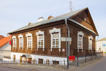 Old wooden house in Minsk, Belarus