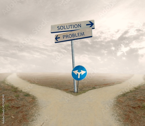 Problem and solution way