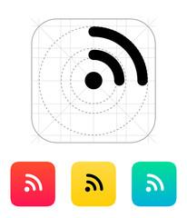 Radio signal Wi-Fi icon.