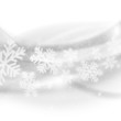 Merry Christmas background. Abstract light grey waves with snowf