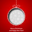 Abstract Xmas greeting card with Christmas ball