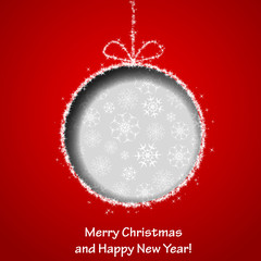 Abstract Xmas greeting card with Christmas ball