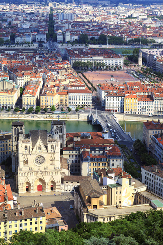Vertical view of Lyon