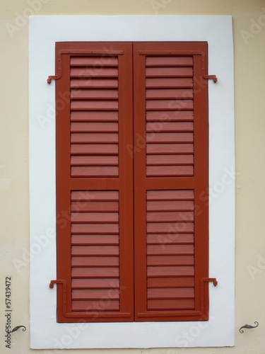Brown Windoe shutters