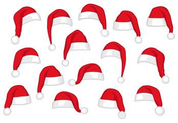 Weihnachtsmützen, 18x