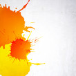 Orange background with splashes