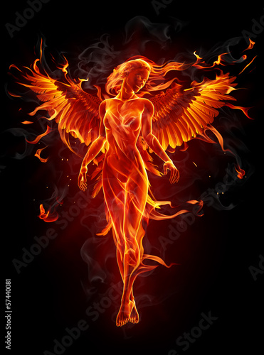 canvas print picture Fiery angel
