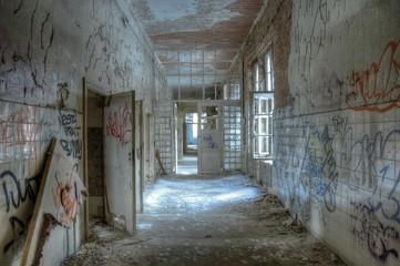 Alter Korridor der Heilstätten in Beelitz