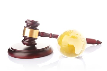 globe with gavel