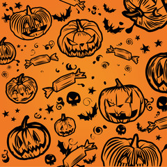 Happy Halloween Background 1 tone
