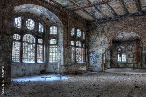 Leinwandbild Motiv Old abandoned hospital