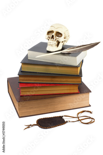 A stack of books on the secret knowledge