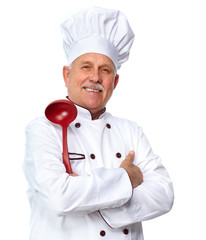 Chef with ladle